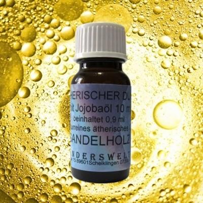 Fragranza etereo (Ätherischer Duft) olio di jojoba con sandalo
