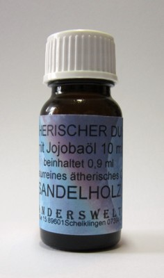 Ethereal fragrance (Ätherischer Duft) jojoba oil with sandalwood