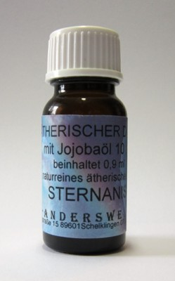 Ethereal fragrance (Ätherischer Duft) jojoba oil with anise