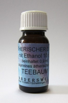 Ethereal fragrance (Ätherischer Duft) ethanol with tea tree