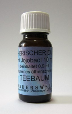 Ethereal fragrance (Ätherischer Duft) jojoba oil with tea tree oil