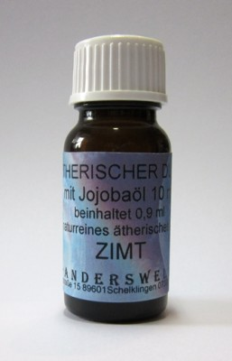 Ethereal fragrance (Ätherischer Duft) jojoba oil with cinnamon