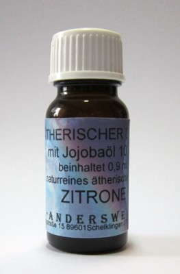 Ethereal fragrance (Ätherischer Duft) jojoba oil with lemon