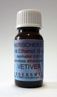 Ethereal fragrance (Ätherischer Duft) ethanol with vetiver