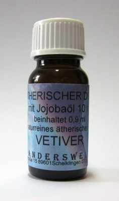 Ethereal fragrance (Ätherischer Duft) jojoba oil with vetiver