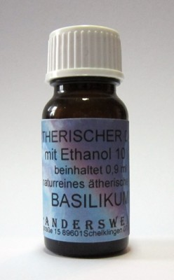 Ethereal fragrance (Ätherischer Duft) ethanol with basil