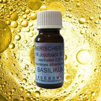 Fragranza etereo (Ätherischer Duft) olio di jojoba con basilico
