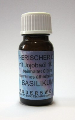 Ethereal fragrance (Ätherischer Duft) jojoba oil with basil