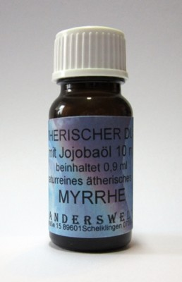 Ethereal fragrance (Ätherischer Duft) jojoba oil with myrrh