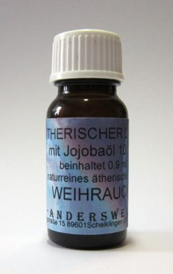 Ethereal fragrance (Ätherischer Duft) jojoba oil with frankincense