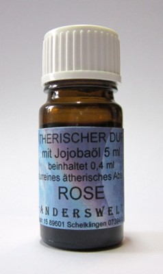 Ethereal fragrance (Ätherischer Duft) jojoba oil with rose absolue