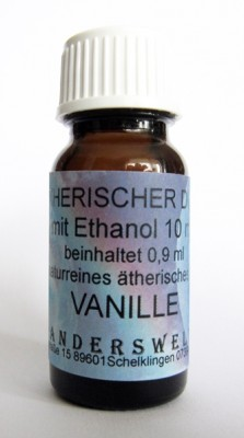 Ethereal fragrance (Ätherischer Duft) ethanol with vanilla