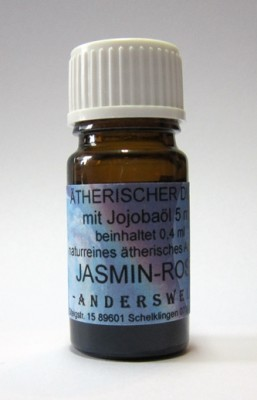 Ethereal fragrance (Ätherischer Duft) jojoba oil with jasmine-rose absolue