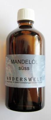 Mandelöl (Prunus dulcis) Flasche mit 100 ml