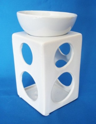 Oil Burner with round holes white