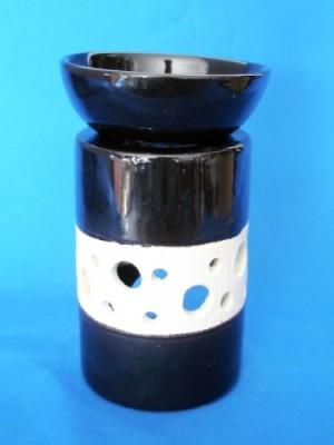 Lampada fragranza con struttura di corteccia bianco/nero