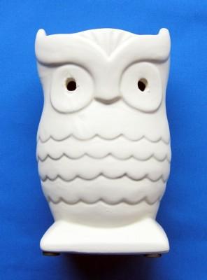 Oil Burner Owl beige