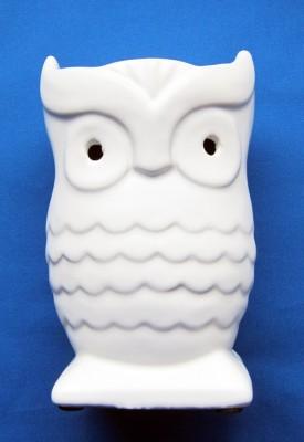 Oil Burner Owl white