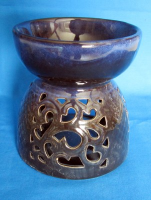 Oil Burner blue through broken, big