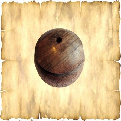 Porta piuma semplice in legno, grande