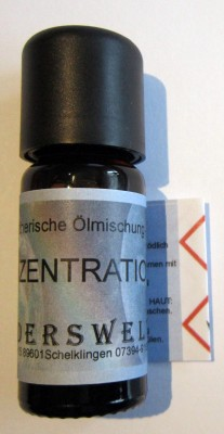 Essential oils blend Concentration Phial with 10 ml