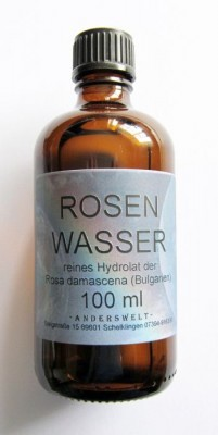 Rose water of pure hydrosol of Rosa damascena (Bulgaria) Bottle of 500 ml