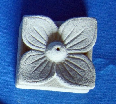 Incense stick holder made of cast stone Lotus