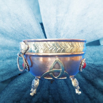 Incense Burner Copper Bowl with Triquetta