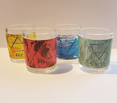 Tealight glasses 4 Elements set