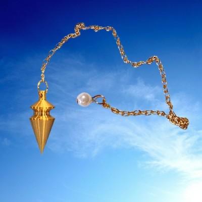 Pendule de taille moyenne en laiton plaqué or