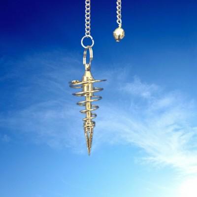 Pendule de spirale plaqué or