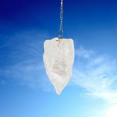 Pendule en cristal de roche nature