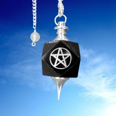 Pendol pietra preziosa con pentagramma