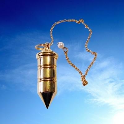Filling pendulum of brass gold plated