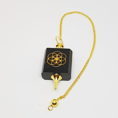 Pendule en onyx avec fleur de vie