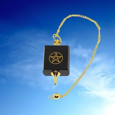 Pendel aus Onyx mit Pentagramm