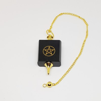 Pendulum of onyx with pentagram