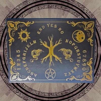 Planche oui-ja l´arbre sacré (Yggdrasil) anglais