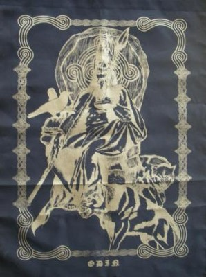 Cloth Odin with Wolf and Raven