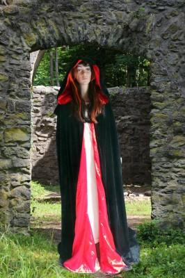 Robe de cérémonie réversible Noir/Rouge