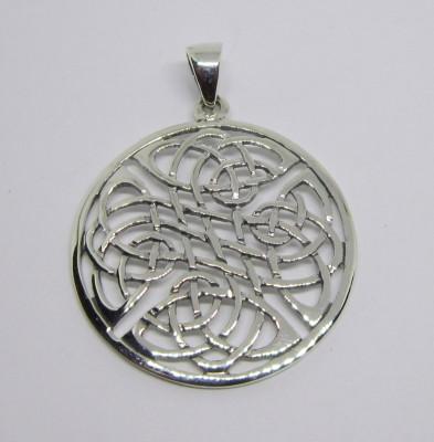 Pendentif en argent avec noeud celtique, quadruple