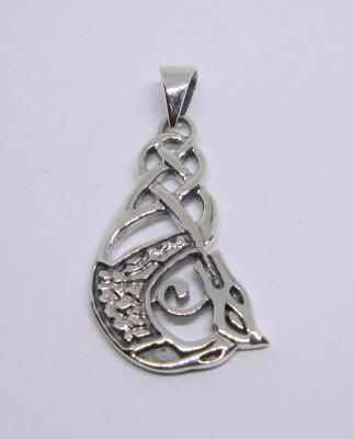 Silber-Anhänger Keltischer Drache