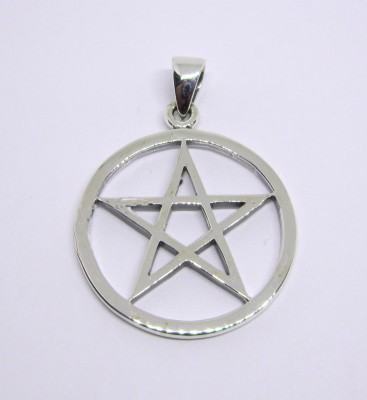 Silver pendant Pentagram
