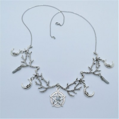 Wicca Collier mit Pentagramm