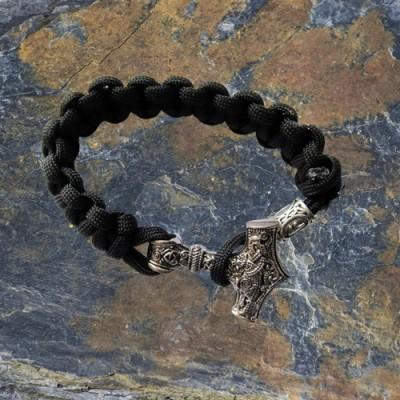 Bracelet de survie Marteau de Thor Mjölnir Asatru