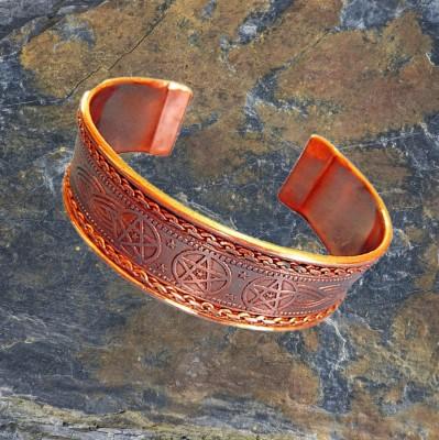 Bracelet Celtic Pentagram of copper