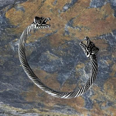Bracciale anello giuramento vichingo con lupi Fenris