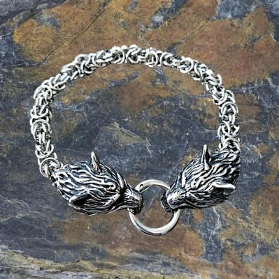 Bracelet Viking avec des loups Fenris