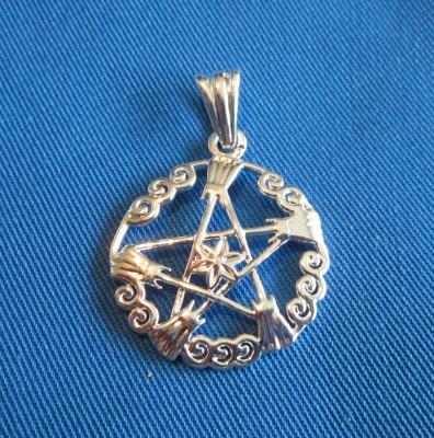 Ciondolo Pentagram streghe ginestra