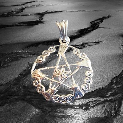 Anhänger Pentagramm Hexenbesen